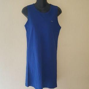 Lacoste Royal Blue Sleeveless Shirt Dress sz 38